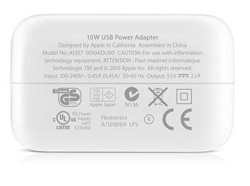 Адаптер питания Apple USB мощностью 10 Вт (зарядка на Айпад) - 2